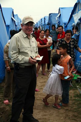 Operation Blessing gets approval to bring tents into China to help provide housing for families displaced by the Sichuan Earthquake.