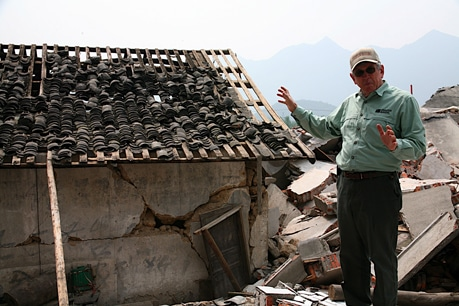 The village of Yao Jin was completely destroyed in the earthquake.