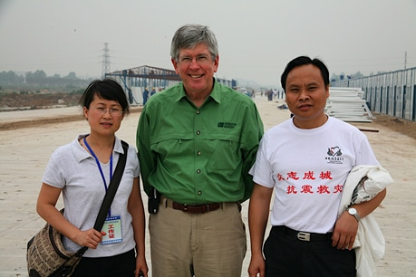 OBI's Bill Horan meets with the Executive Director of China Foundation for Poverty Alleviation.