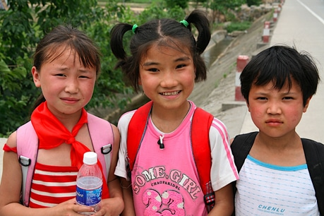 School children in China will be meeting in temporary buildings until authorities are sure the ground is stable enough to rebuild.
