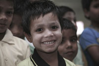 One of the orphans in Father Raj's care in Hyderabad.
