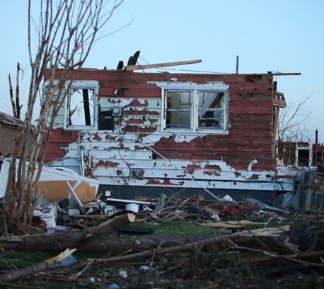 Destroyed house in Joplin, Missouri.