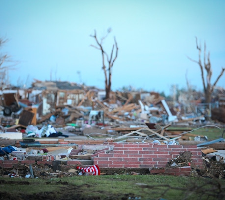 tornado devastation in Missouri.
