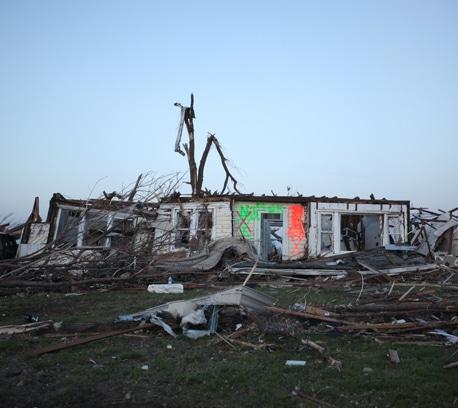 A house destroyed by Joplin tornado.