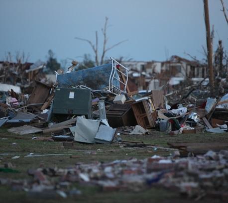 Widespread destruction in Joplin, Missouri.