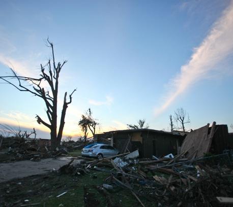 Devastation left behind by the Joplin tornado.
