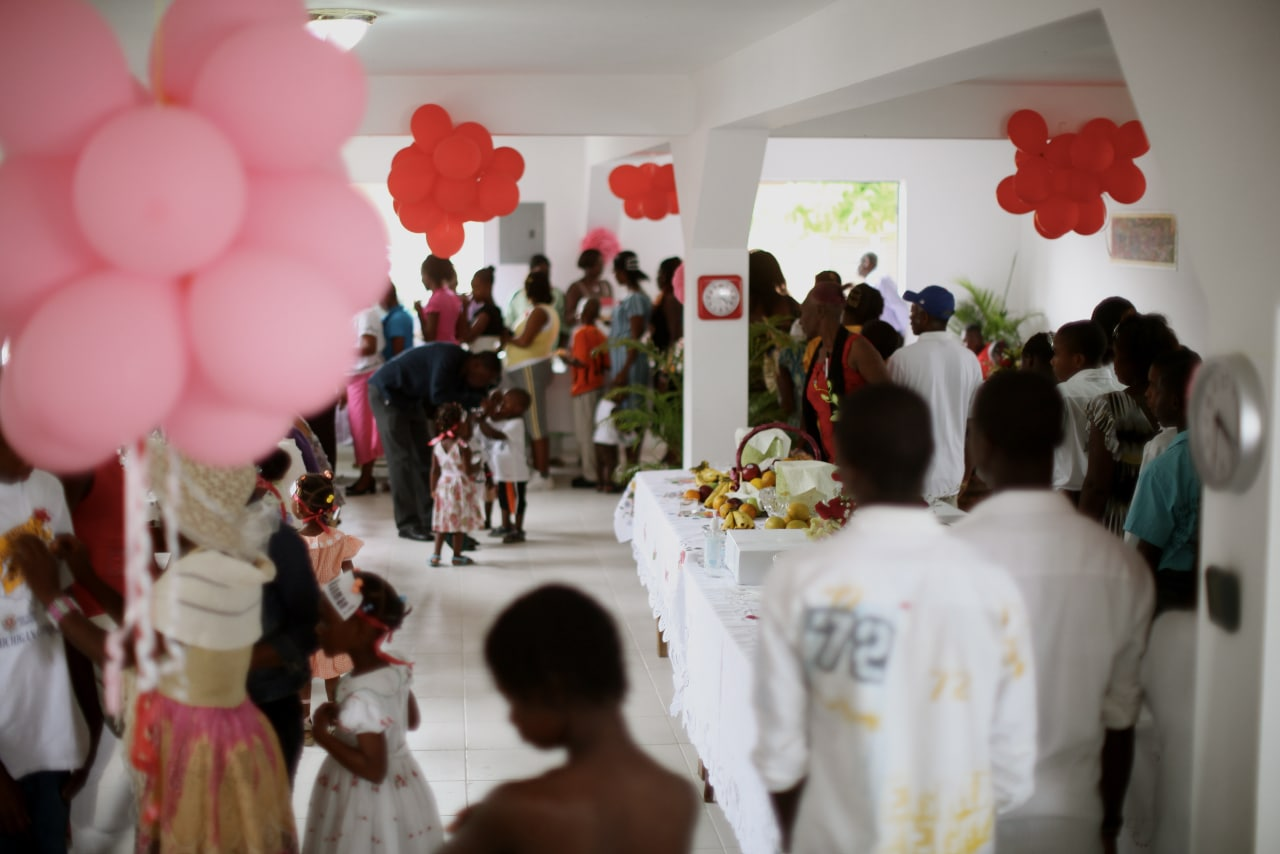 Zanmi Beni's new dining hall built by Operation Blessing hosted the feast.