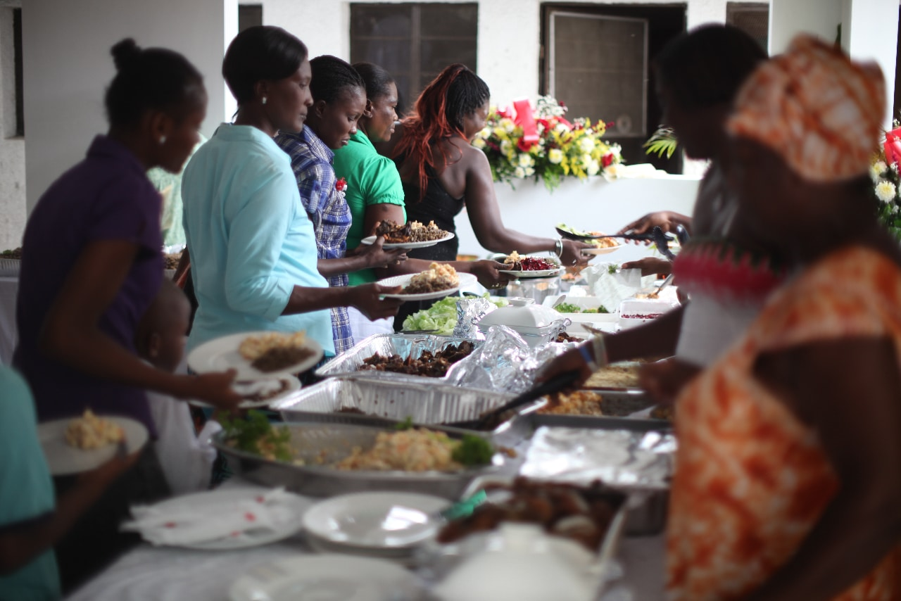 The staff moms at Zanmi Beni have a celebration in their honor for Mother's Day in Haiti.