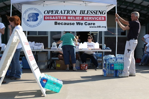 Operation Blessing sets up disaster relief center in Joplin, Mo.