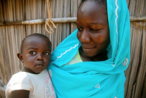 Nuba refugee and son