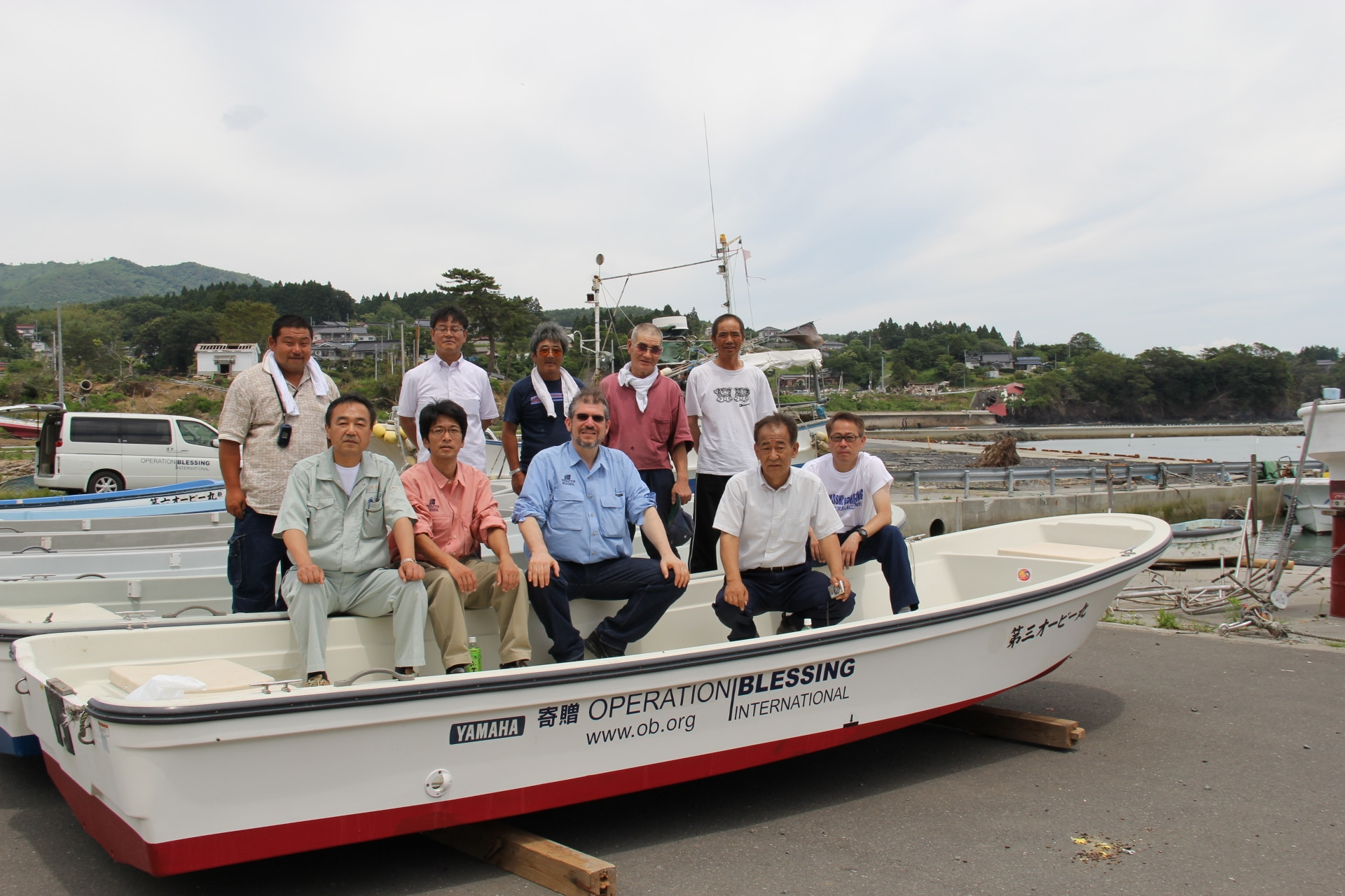 Boats help fishermen get back to work in japan operation for Japanese fishing boat