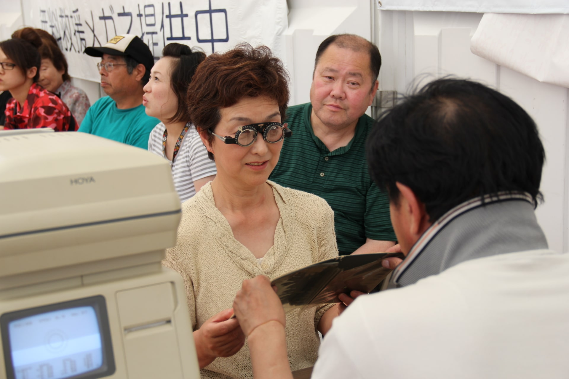 In Japan, tsunami survivors receive eye exams from Operation Blessing.