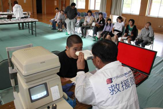 Operation Blessing gave Nobuto and his teammates free eye exams and new glasses.