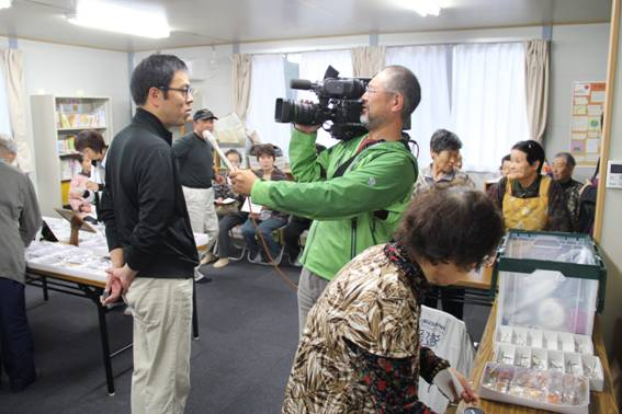Operation Blessing Japan is interviewed for television broadcast.