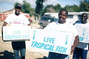 Thousands of fish make their way to Haiti to provide nutrition, jobs and more for impoverished families.