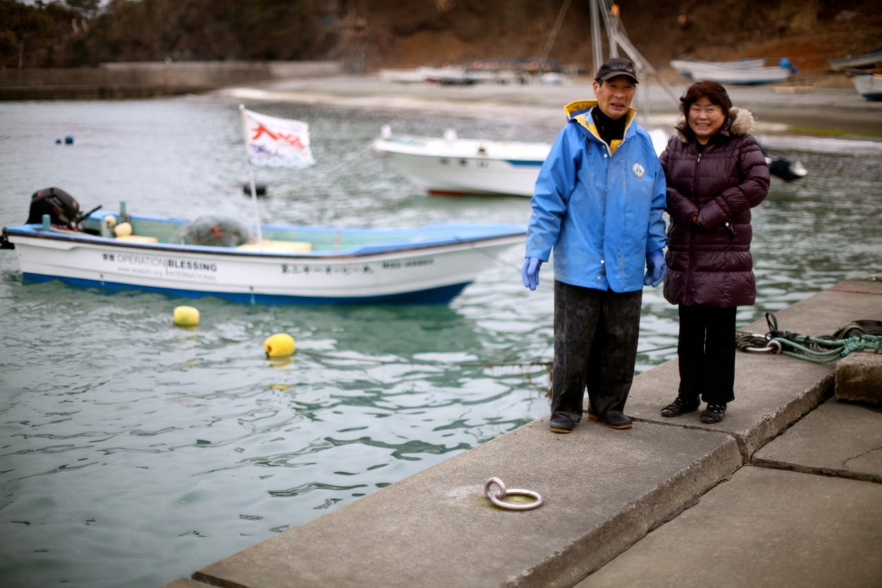 Fishermen in Japan are returning to work.