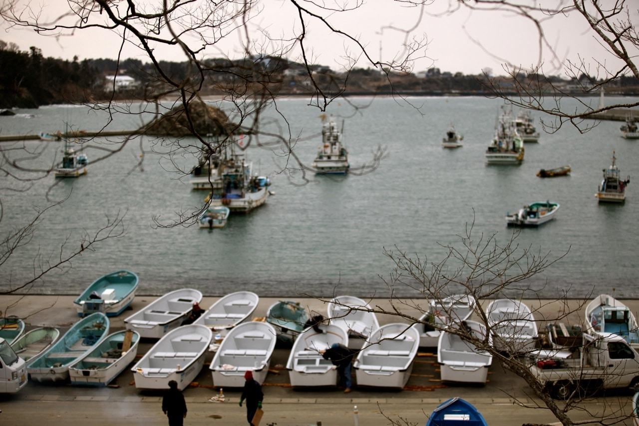 OBI boats in Japanese harbor