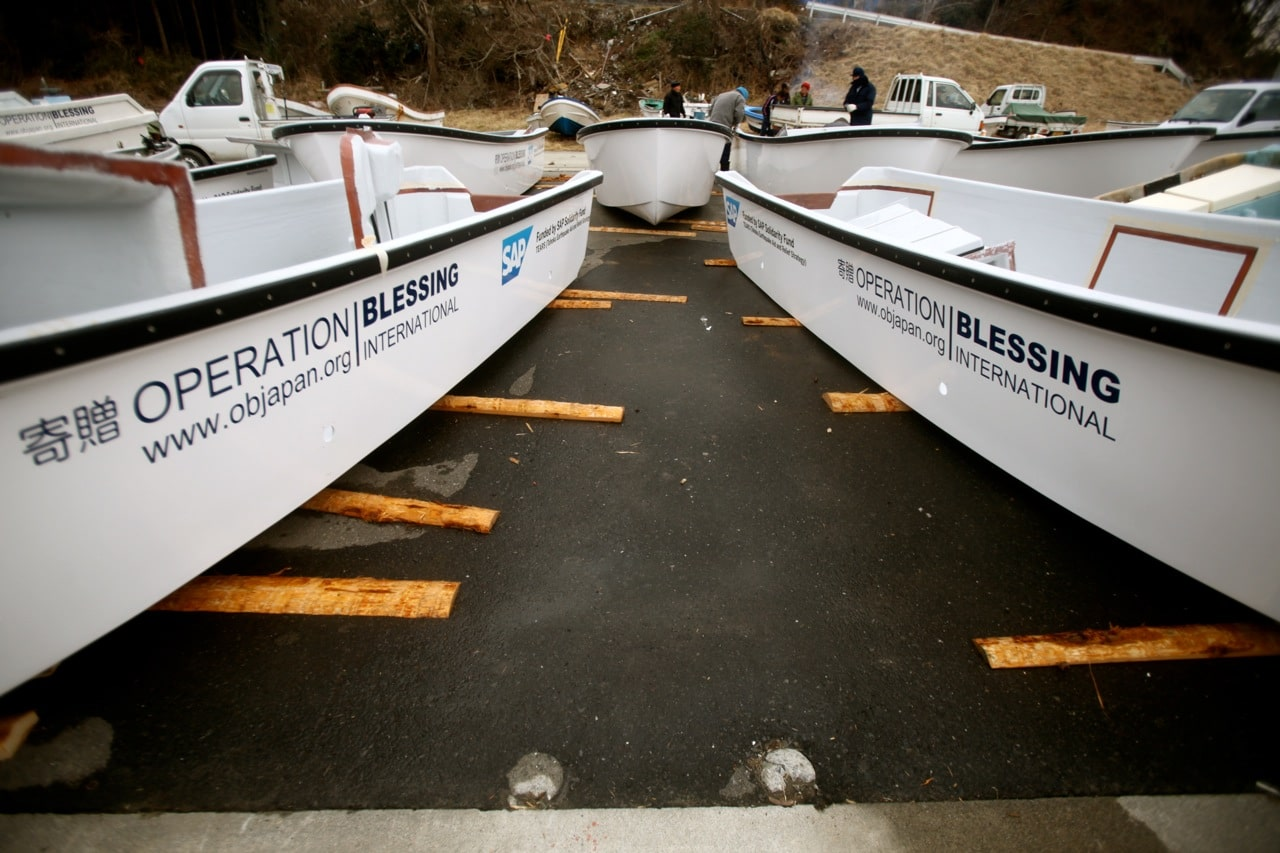 The boats will be presented to fishermen at a special ceremony.
