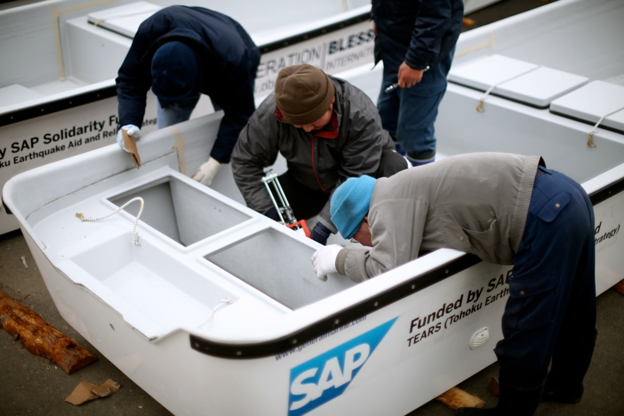 SAP Solidarity funded the first 10 boats.