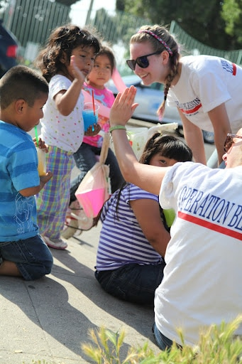 Operation Blessing working with Metro Kidz in California