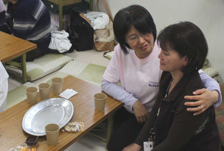 Operation Blessing aids tsunami survivors with counseling.