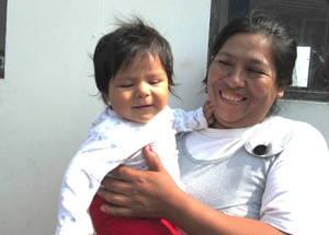 Leonor and her baby girl are both healthy today, thanks to the quick actions of OBI's community health workers.
