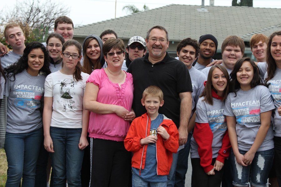 The Impact Team with Joyce, Jerry and their children.