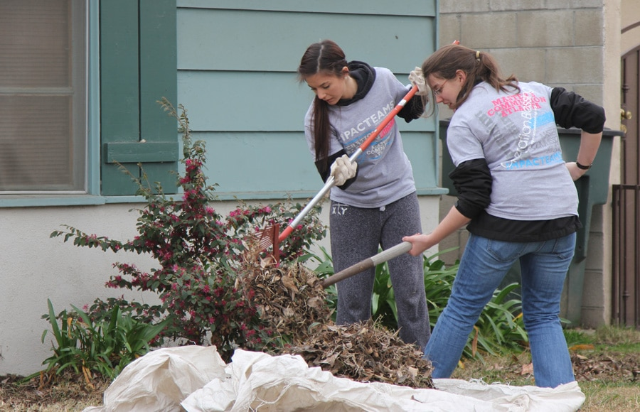 Impact Team completes much needed yard work for a family in need.