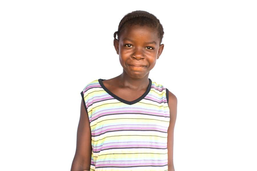 Elizabeth, an orphan in Liberia.