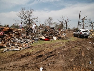 Tornado devastation in Granbury, Texas