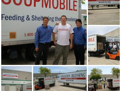Operation Blessing partners with SoupMobile to aid families affected by West, Texas fertilizer plant explosion.