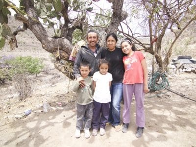 Basilio and his family receive help from Operation Blessing Mexico.