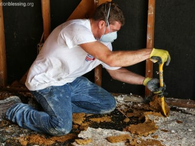 Gutting damaged homes in Oklahoma