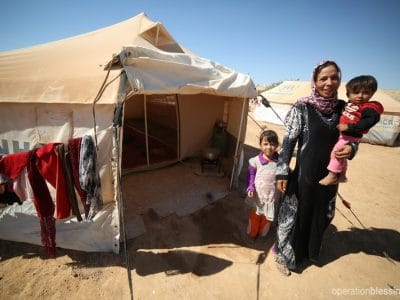Syrian refugee family in Jordan