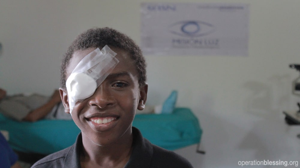 Eduardo received the surgery he needed to save his sight.