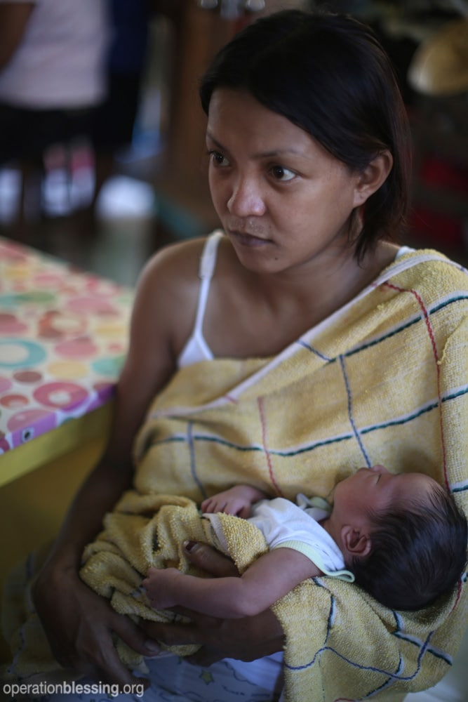Baby Yolanda was born just days after Typhoon Haiyan devastated the Philippines