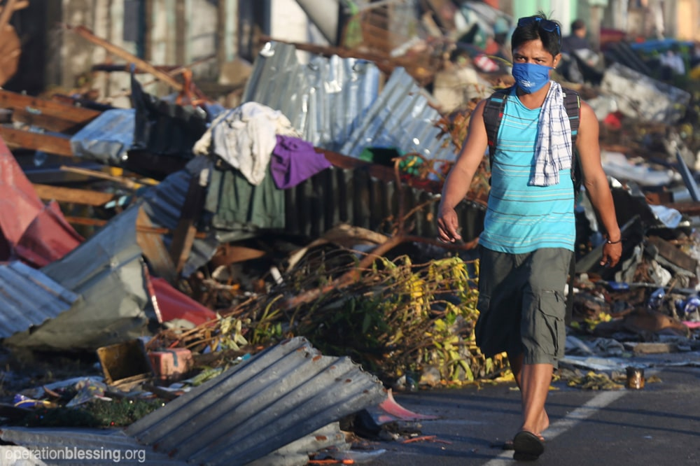Damage to Tacloban, Philippines