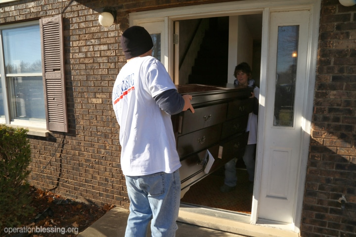 OBI gave the family an Extreme Blessing after their home and belongings were devastated by a tornado