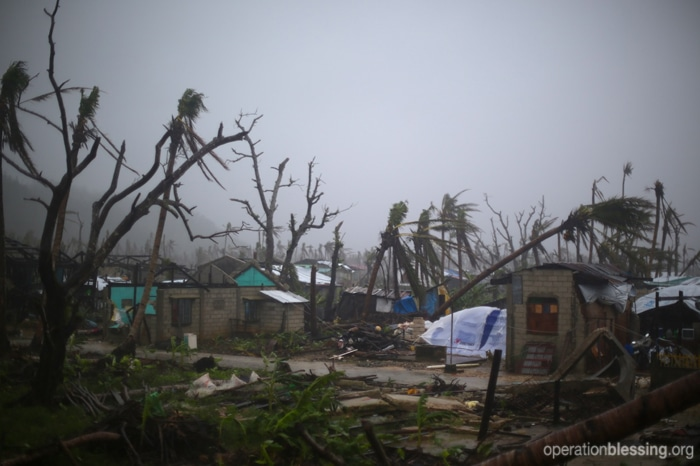 The village of Pagnamitan, Philppines, was destroyed during Typhoon Haiyan
