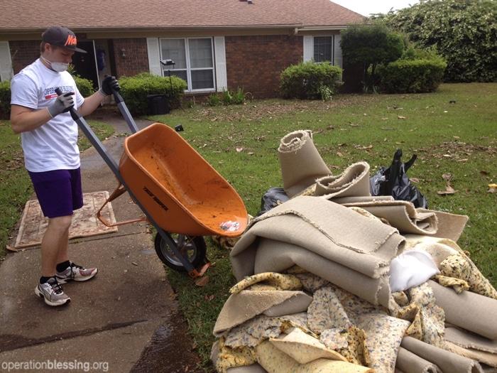 Volunteers help clean-up efforts in Pensacola