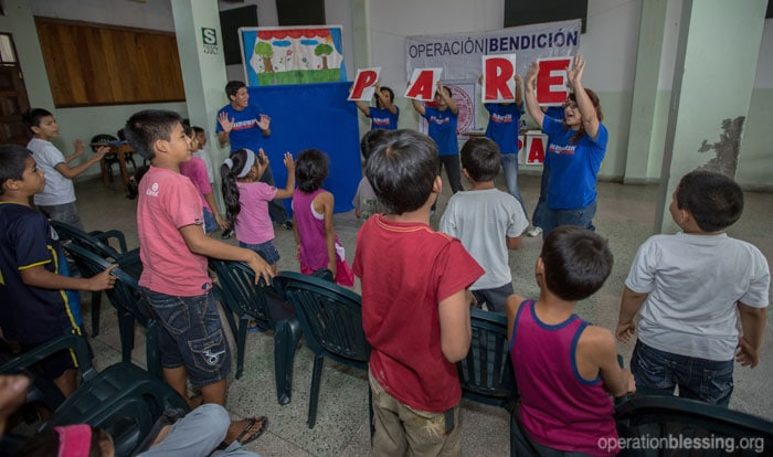 Children learn about abuse prevention