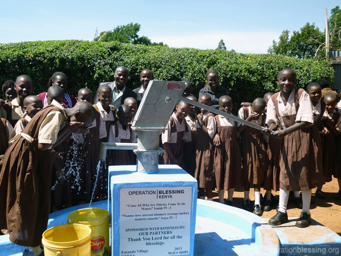 A new well provides students at a boarding school with clean water and more time for learning