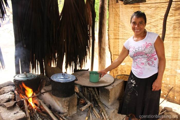 Mirella's makeshift home was unsecure and vulnerable to bad weather.