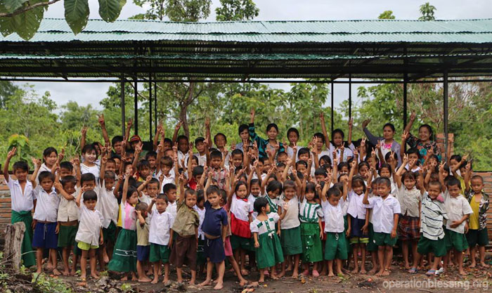 Operation Blessing provides the necessary materials to construct a school building in Myanmar