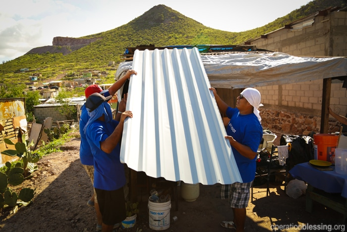 Replacing roofs damaged by Hurricane Odile