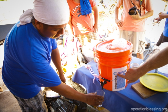 Clean drinking water for disaster victims