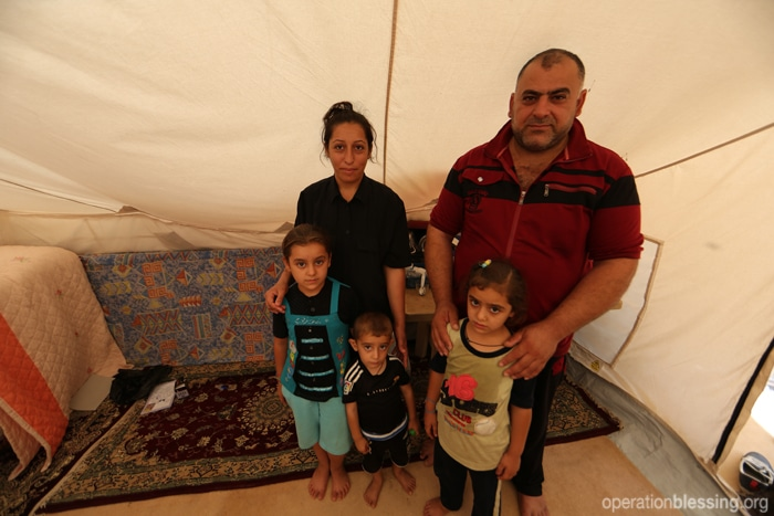 Miriam and her family have taken refuge in a tent in Kurdistan