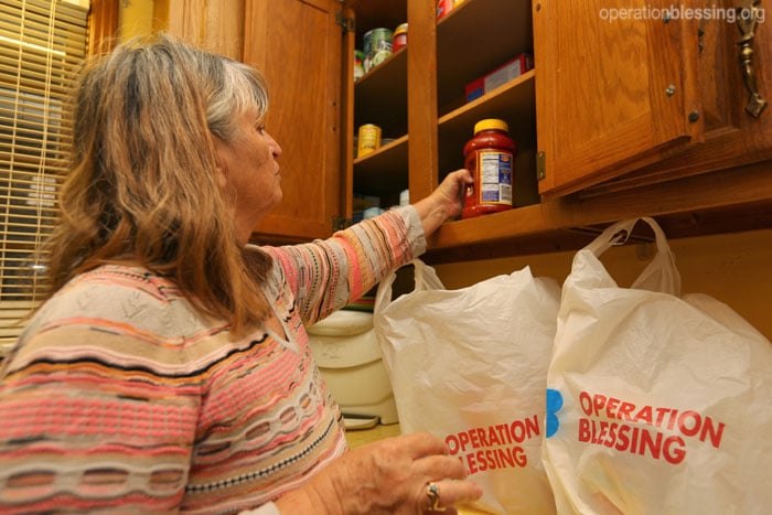 An Operation Blessing-supported food pantry helps Richard protect his family from hunger