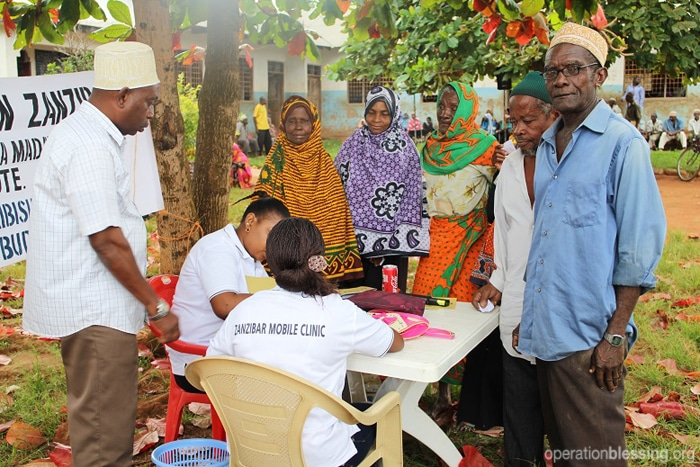 Suffering villagers in Zanzibar receive life-saving care thanks to donated medicines from Operation Blessing and Teva Pharmaceuticals