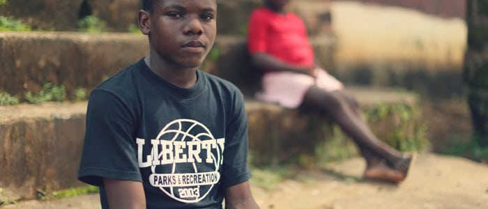 Fifteen-year-old Ernest was orphaned by Ebola